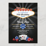 """Las Vegas Casino Night Birthday Invite Party<br><div class=""""desc"""">Casino Night Party Design. Perfect for any age birthday. Simply change the text to suit your party. Back print included.</div>"""