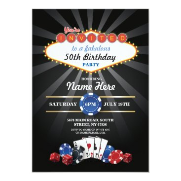 WOWWOWMEOW Las Vegas Casino Night Birthday Invite Party