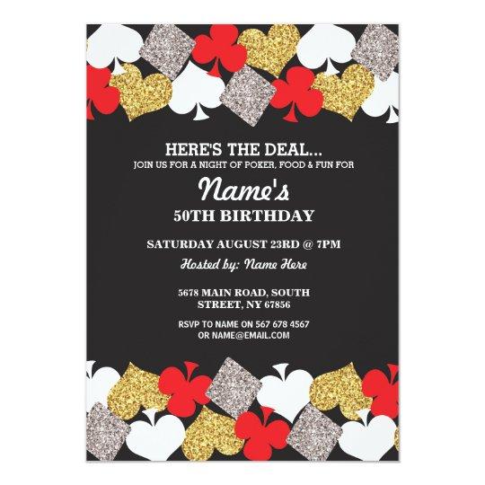Las vegas casino night birthday party invitation zazzle las vegas casino night birthday party invitation stopboris Image collections