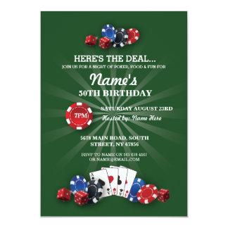 Las Vegas Casino Night Birthday Party Invitation