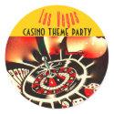 Las Vegas casino party sticker