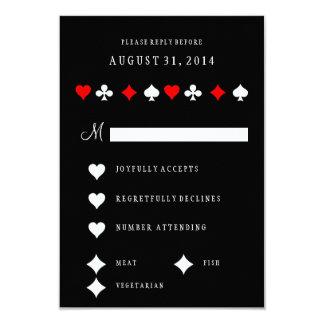 Las Vegas Casino Poker Cards Wedding RSVP Card