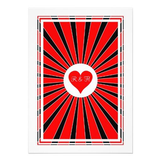 Las Vegas Casino Poker Playing Card Invitation (back side)