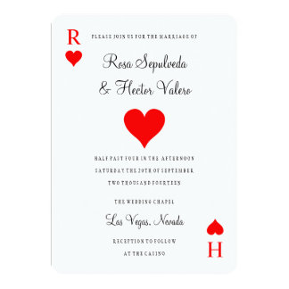 Las Vegas Casino Poker Playing Card Invitation