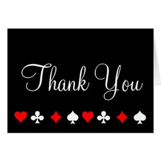 Las Vegas Casino Poker Thank You Note Card