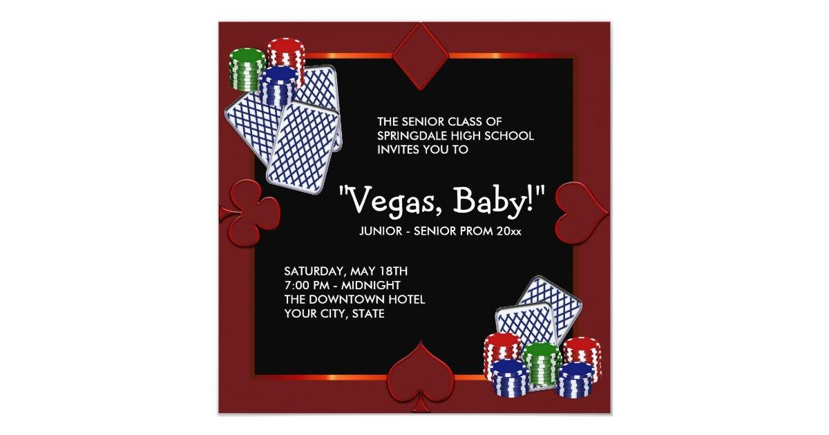 Las vegas casino prom invitations zazzle stopboris Choice Image