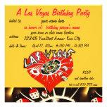 Las Vegas Casino Theme Birthday Party Personalized Invite