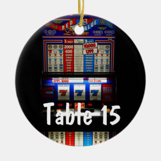 Las Vegas Casino Theme Table Number Ceramic Ornament
