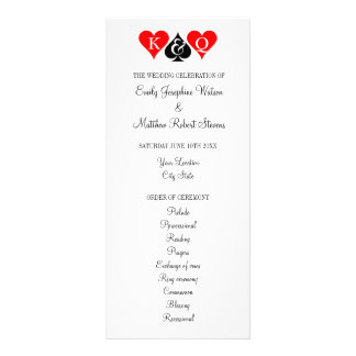 Las Vegas casino theme wedding ceremony program