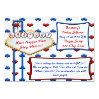 Las Vegas Casino Vintage Style Party Invitation