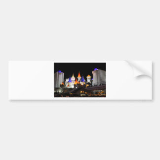 Las Vegas Castle Hotel Gaming Vegas City Colorful Bumper Sticker