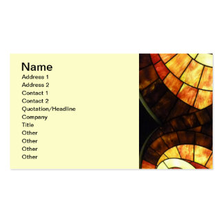 LAS VEGAS ceiling colored glass browns cream reds Business Card Template