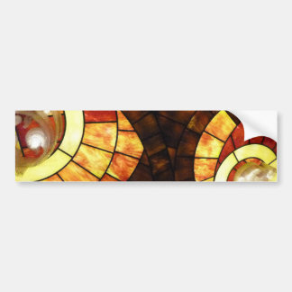 LAS VEGAS ceiling colored glass browns cream reds Car Bumper Sticker