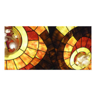 LAS VEGAS ceiling colored glass browns cream reds Card