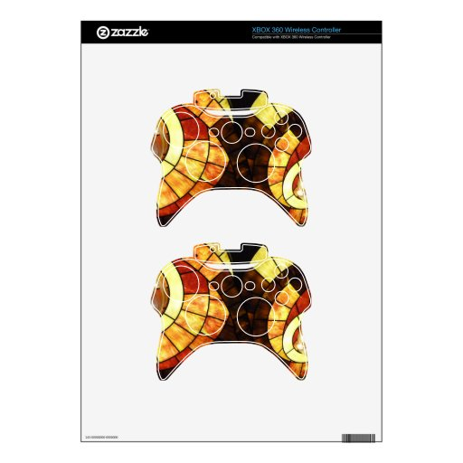 LAS VEGAS ceiling colored glass browns cream reds Xbox 360 Controller Decal