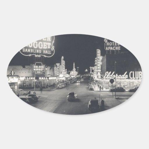 Las Vegas céntrico retro Colcomanias Óval