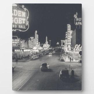 Las Vegas céntrico retro Placas Para Mostrar