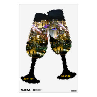 Las Vegas Champagne Wedding Toast Wall Sticker