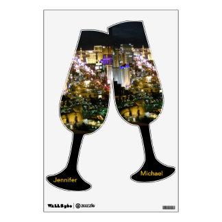 Las Vegas Champagne Wedding Toast Room Graphics