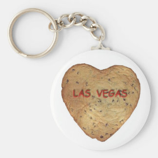 Las Vegas Chocolate Chip Heart Cookie Keychain
