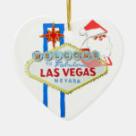 Las Vegas Christmas Ceramic Ornament