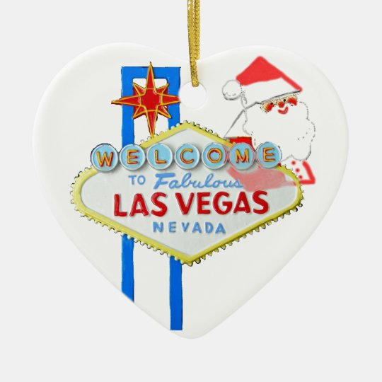 Las Vegas Christmas Ceramic Ornament