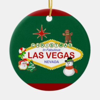 Las Vegas Christmas Ornament