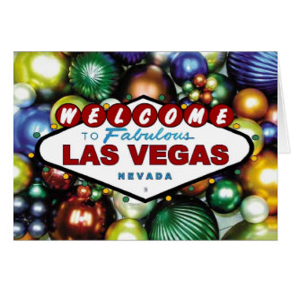 Las Vegas Christmas Ornament Card