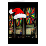 Las Vegas Christmas Slots Greeting Cards