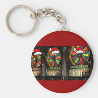 Las Vegas Christmas Slots Keychain