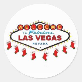 Las Vegas Christmas Stockings Stickers