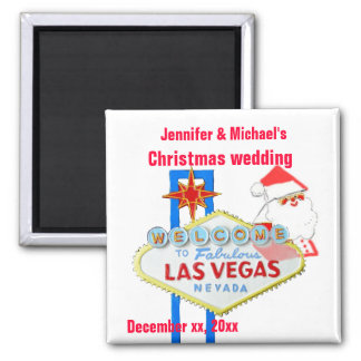 Las Vegas Christmas wedding 2 Inch Square Magnet