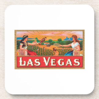Las Vegas Cigar Label Drink Coaster