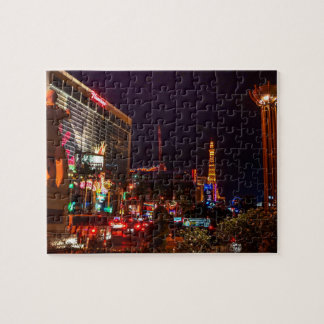 Las Vegas City Lights Jigsaw Puzzle Jigsaw Puzzle