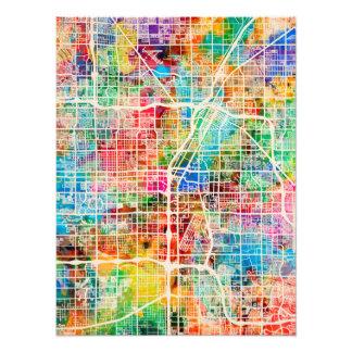 Las Vegas City Street Map Photo Art