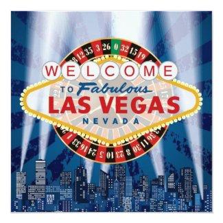 Las Vegas Cityscape Modern Unique Wedding Invites