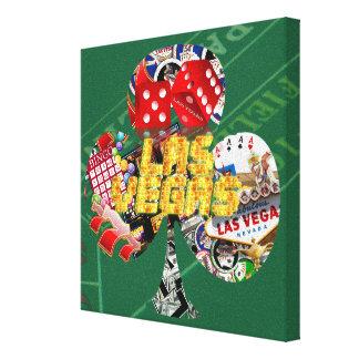 Las Vegas Club Playing Card Shape Canvas Print