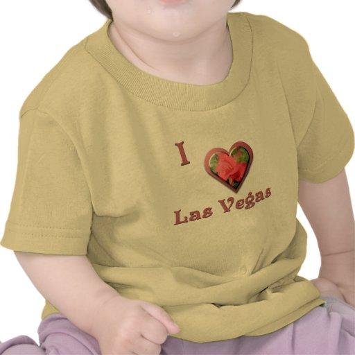 Las Vegas -- con el rosa rojo Camisetas