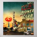 Las Vegas con la bomba atómica en fondo Impresiones