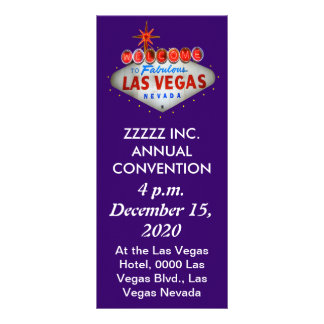 Las Vegas Convention / Event Flyers Customized Rack Card