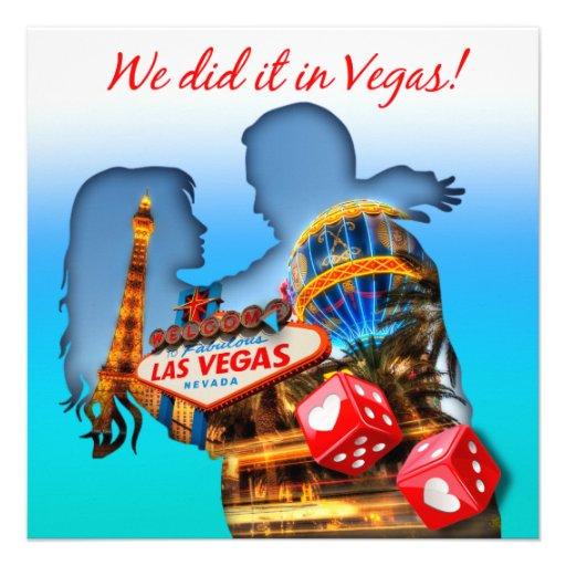 Las Vegas Couple Wedding Reception Announcement