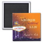 Las Vegas crepuscular que casa reserva la fecha Imán Cuadrado