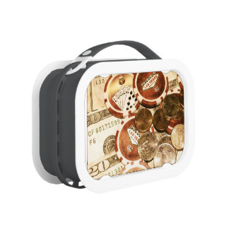 Las Vegas Currency Lunch Box