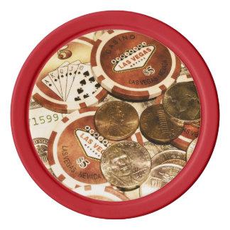 Las Vegas Currency Poker Chips Set