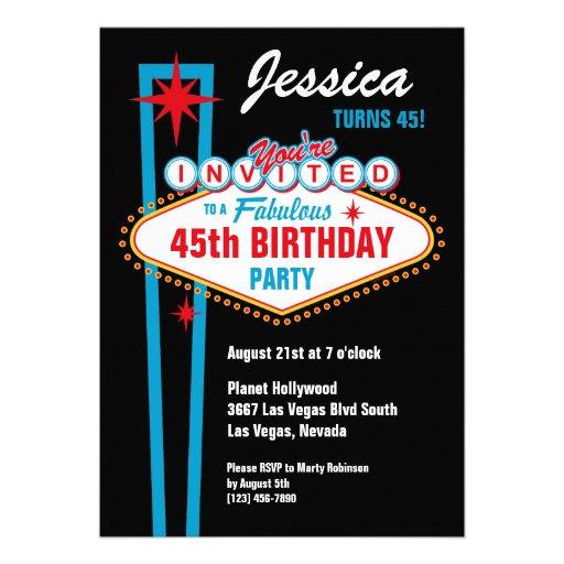 Personalized Las Vegas Party Invitations Custominvitations4u Com