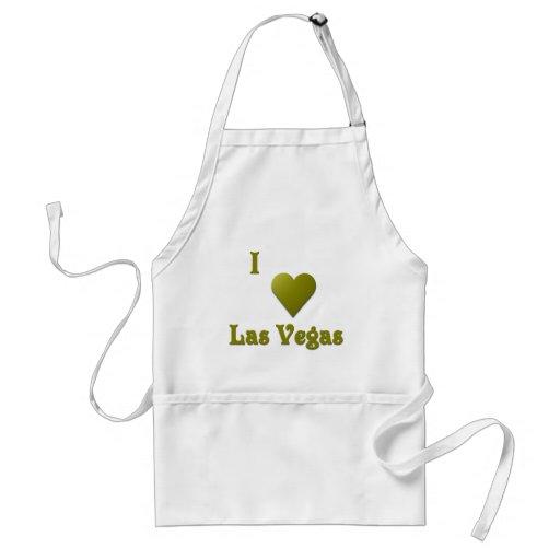 Las Vegas -- De color verde oscuro Delantal