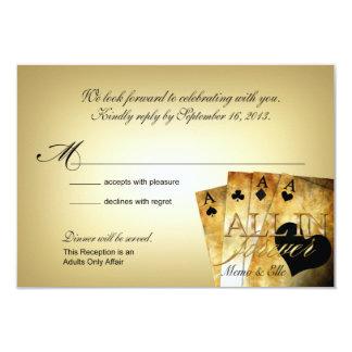 Las Vegas de Elle que casa RSVP Invitación 8,9 X 12,7 Cm