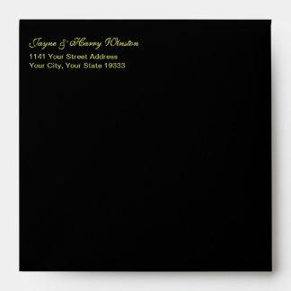 Las Vegas Deluxe Black sq envelope w/Gold interior