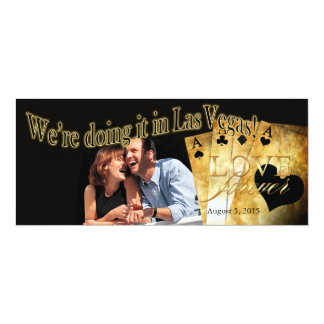 Las Vegas Deluxe Photo Wedding Card