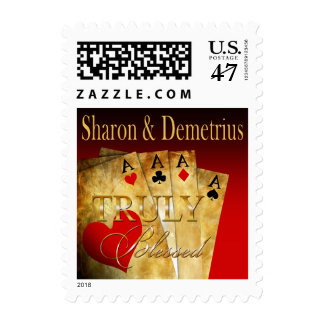 Las Vegas Deluxe Retro Casino Chip red black gold Postage